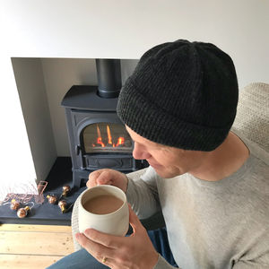 Men's Knitted Winter Beanie Hat - hats