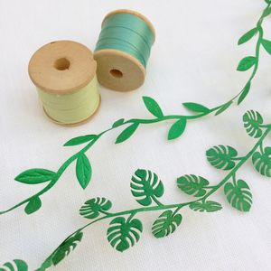 Tropical Leaf, Botanical Ribbon Collection - wedding stationery