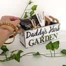 Personalised Father's Herb Planter