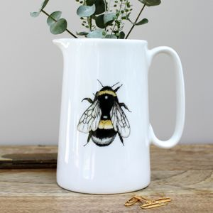 Bumblebee One Pint Fine Bone China Jug - sugar bowls & cream jugs