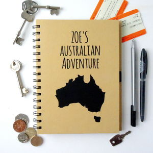 Personalised Destination Travel Journal - gifts for teenagers