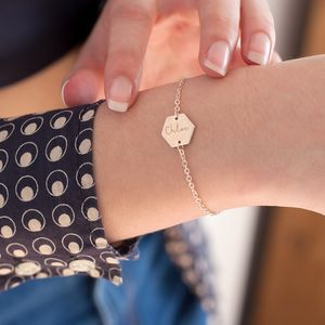 Lealia Hexagon Personalised Bracelet - women's jewellery