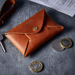 Personalised Leather Coin Pouch