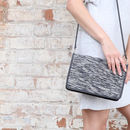 Leather Rati Clutch With Detachable Strap