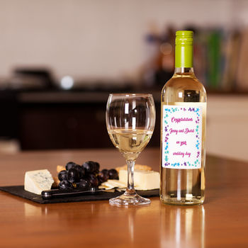 Personalised Wedding Congratulations White Wine
