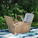 Four Person Wicker Picnic Hamper Set