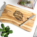 Personalised Bark Edged Cheese Board