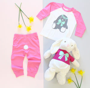 Bunny Pyjamas And Super Soft Bunny Toy Set