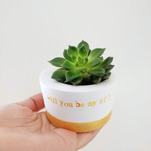 Personalised Hand Stamped Quote Planter