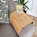 Personalised Classic Wooden Sofa Armchair Tray
