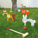 Woodland Animal Croquet Set