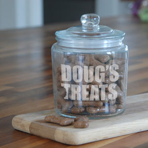 Personalised Dog Treat Jar - new in pets