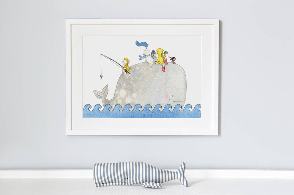 Whentworth whale nursery print