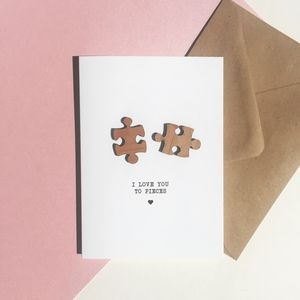 Jigsaw Pieces Love Card