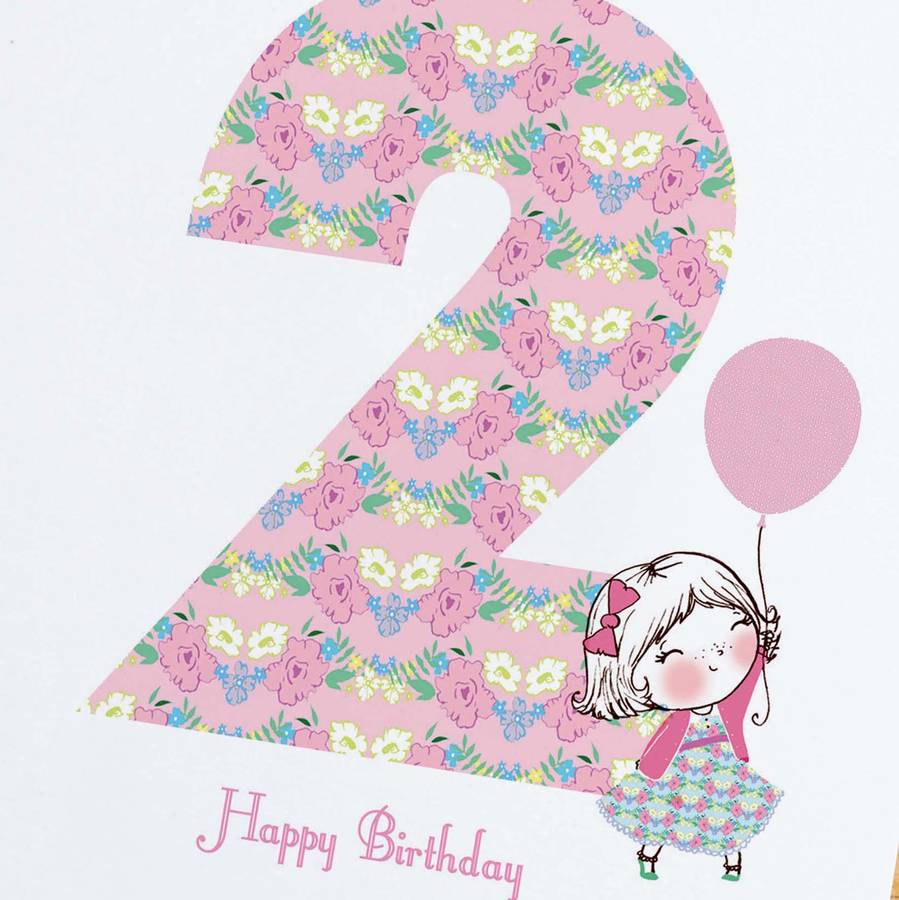 2nd Birthday Card By Rosie Radish