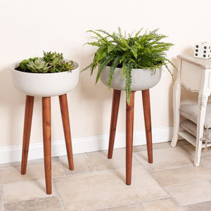 Bol Et Trépied Contemporary Tripod Planters - summer sale