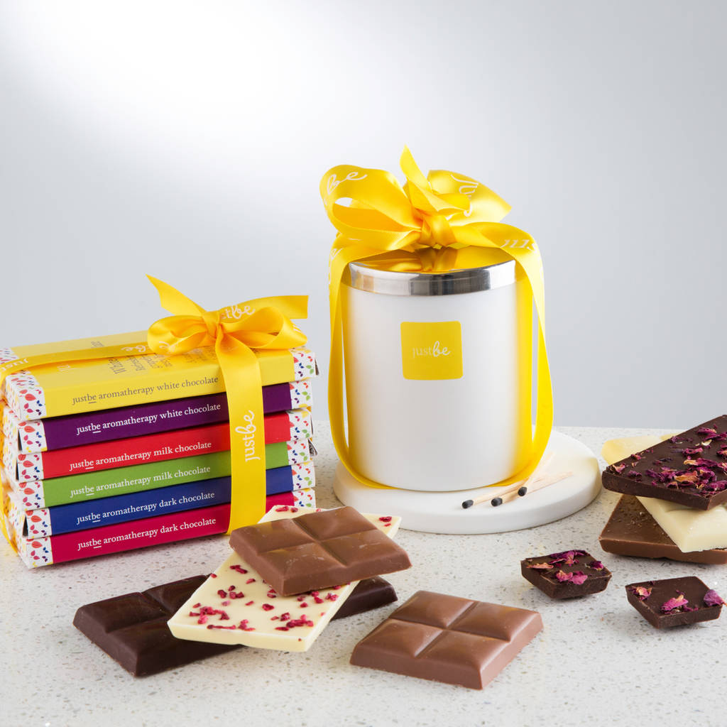 Chocolate Collection And Happy Candle Gift Set