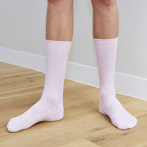 Pink Cotton Sock - men's fashion