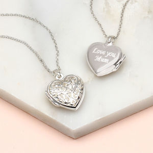 Personalised Sterling Silver Filigree Locket