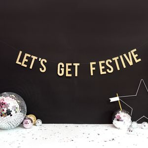 Christmas Party Banner Decoration Lets Get Festive - christmas home accessories