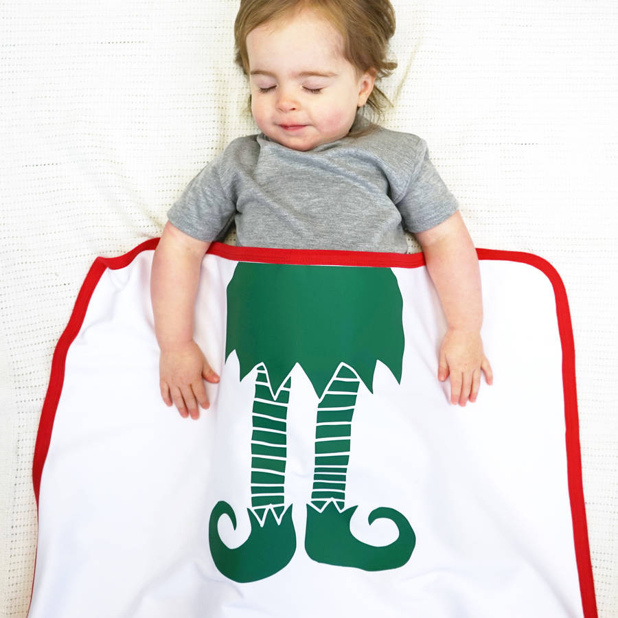 Sparks Clothing Personalised Baby Elf Christmas Blanket