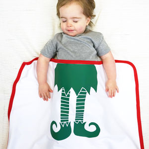Personalised Baby Elf Christmas Blanket - gifts for babies & children