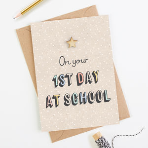 1st Day At School Card - shop by category