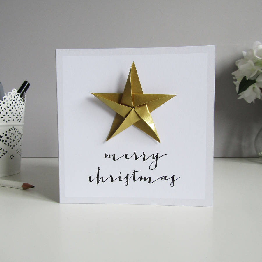 christmas card origami | Tutorial Origami Handmade - photo#22