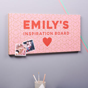 Personalised Inspiration Cork Pin Board
