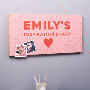 Personalised Inspiration Cork Pin Board - noticeboards