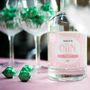 Personalised Blush Design Botanical Crafted Gin