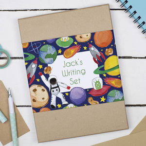 Personalised Astronaut Children's Writing Set - winter sale