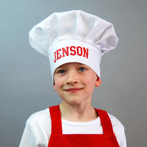 Personalised Children's Chef Hat - children's cooking