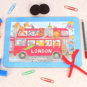 London Bus Placemat - placemats & coasters