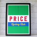 Personalised Cycling Jersey Print