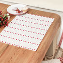 Cranberry Love Heart Striped Fabric Placemats