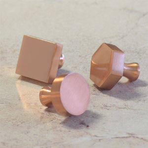 Modern Matte Copper And Gold Cupboard Door Knobs