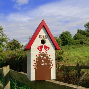 Personalised Wedding / Anniversary Bird Box - birds & wildlife