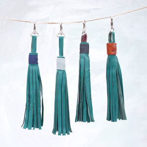 Leather Tassel - bag charms