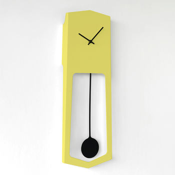 Yellow Wall Pendulum Clock