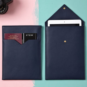 Personalised Leather Tablet And Document Sleeve - personalised sale gifts