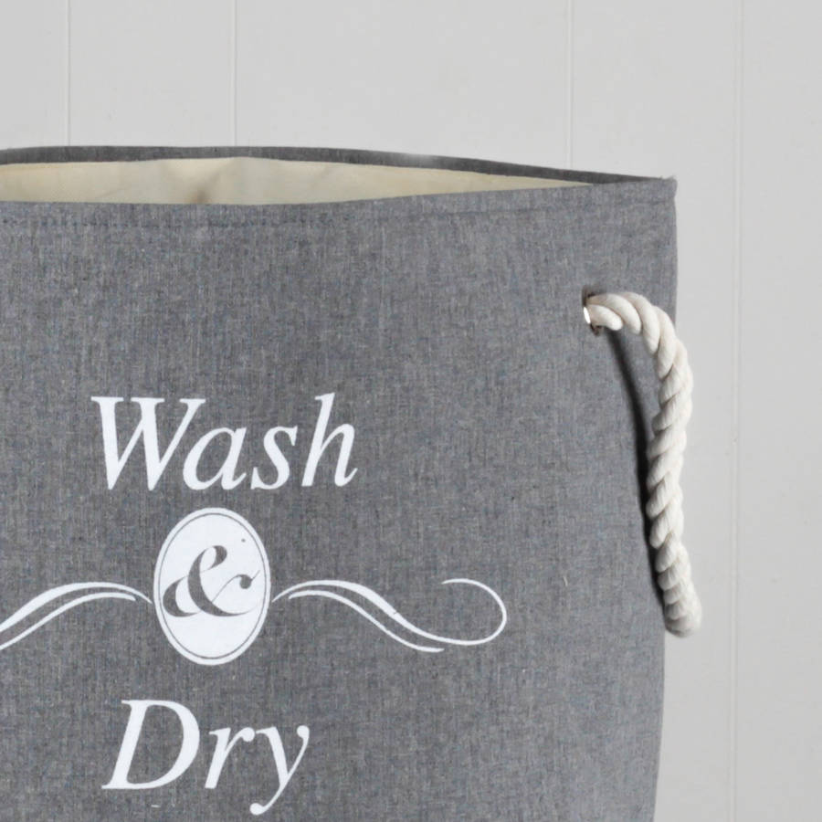 wash and dry grey drawstring laundry bag by dibor. Black Bedroom Furniture Sets. Home Design Ideas