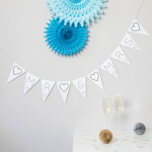 Mr And Mrs Bunting - bunting & garlands