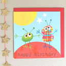 Sparkly Alien Birthday Card