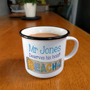 Personalised Enjoy Your Holiday Teacher Mug