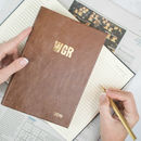 2020 Diary Leather Diary, Personalised With Monogram