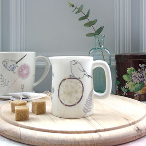 Dandelion And Bird Mini Jug - sugar bowls & cream jugs