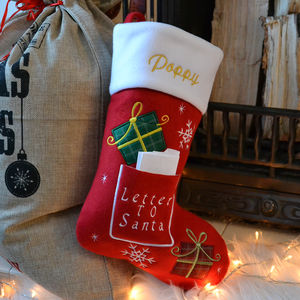Personalised Christmas 'Letter To Santa' Stocking - christmas decorations