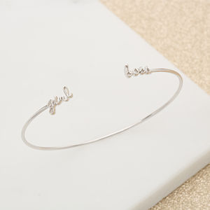 Girl Boss Stacking Bangle - graduation gifts