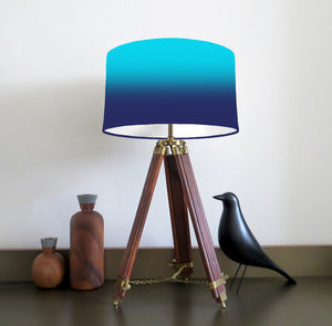 Faded Striped Lampshade Available In Three Colour Ways